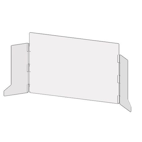 Accuform® Accu-Shield™ PRL300 SG Clear Barrier Panel: Countertop-Desktop Panel with Side Wings