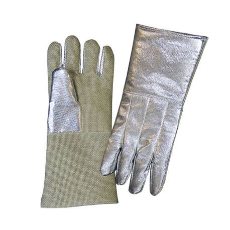 "Chicago Protective Apparel 234AKV-ZP 14"" Aluminized Para-Aramid Blend and Zetex Plus® Combo High Heat Gloves"
