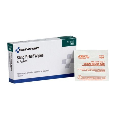 First Aid Only® 19-002 Sting Relief Wipes