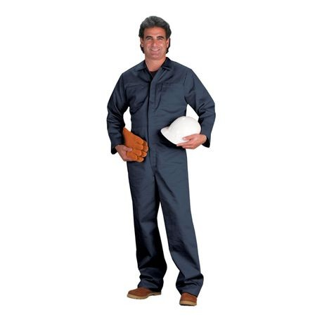 Chicago Protective Apparel 605IND-N/XL Navy Indura® Flame-Resistant Coveralls