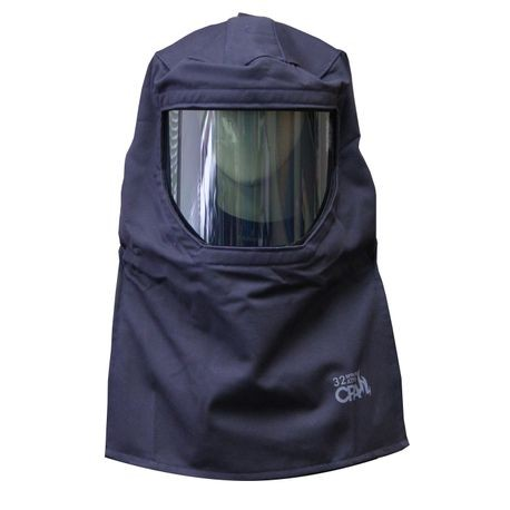 Chicago Protective Apparel SWH32-HAD 32 Cal Arc Flash Protection Hood with Hard Cap
