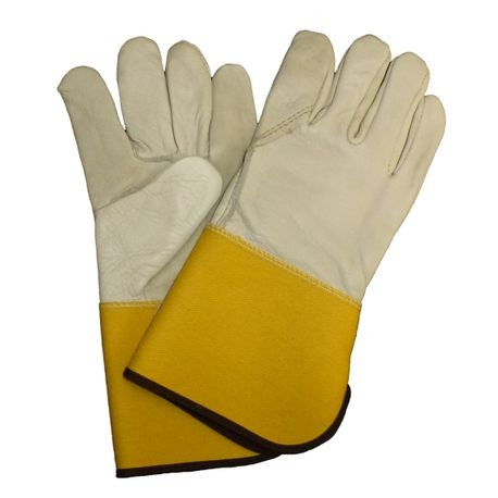 Saf-T-Gard® 4864 Leather Palm and Back Gloves