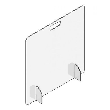 Accuform® Accu-Shield™ PRL100 SG Clear Barrier Panel: Countertop-Desktop Front Panel