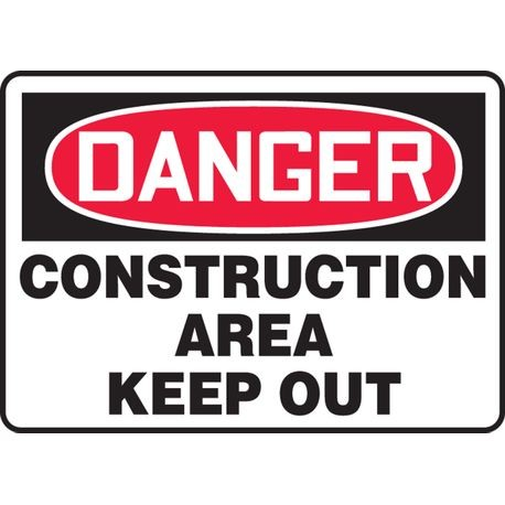 Accuform® MCRT101VP Safety Sign: DANGER CONSTRUCTION AREA KEEP OUT