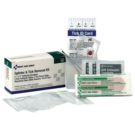 First Aid Only® 7-108 Splinter and Tick Removal Kit