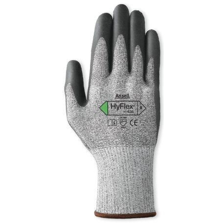 Ansell® HyFlex® 11-435/8 Coated Cut-Resistant Gloves