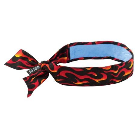 Ergodyne® Chill-Its® ERG-6700CT/F Evaporative Cooling Bandana with Cooling Towel - Tie