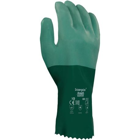 Ansell® Scorpio® 8-352/10 Neoprene-Coated Chemical-Resistant Gloves
