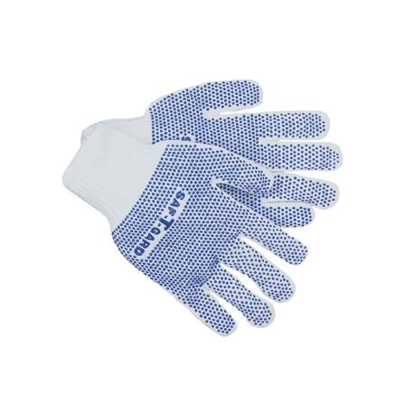 Saf-T-Gard® Comfo-Grip® PVC Double-Dotted Reversible String Knit Work Gloves, Standard Weight