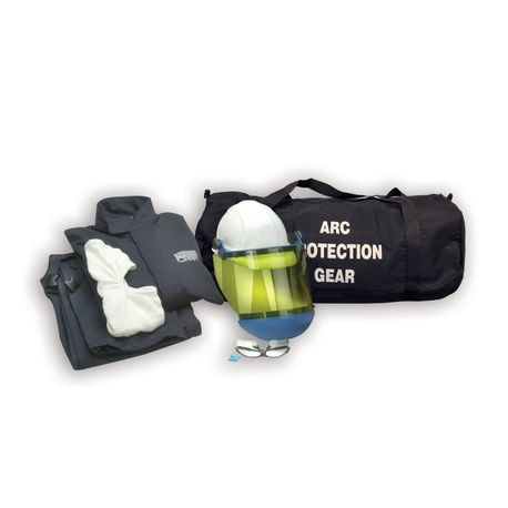 Chicago Protective Apparel AG12-NG/L 12 Cal Arc Flash Protection Jacket and Bib Kit