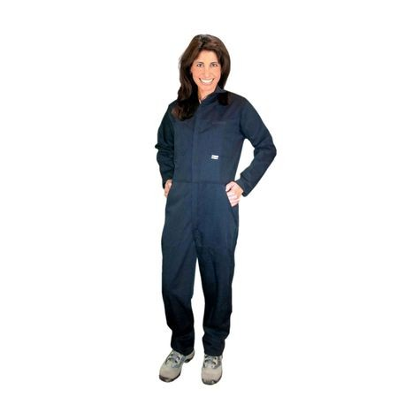 Chicago Protective Apparel 605USN/4XL Navy UltraSoft® Flame-Resistant Coveralls