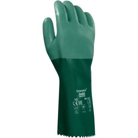 Ansell® Scorpio® 8-354 Neoprene-Coated Chemical-Resistant Gloves