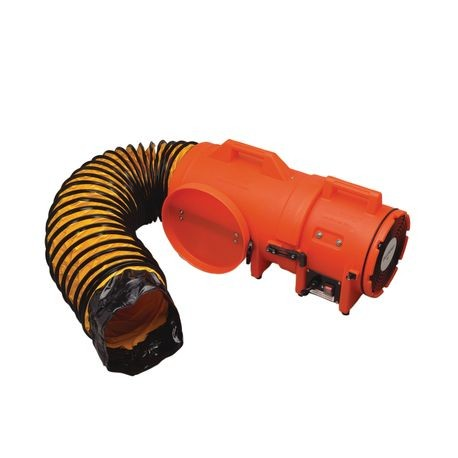"Allegro® 9533-25 8"" AC Plastic COM-PAX-IAL Blower with Canister and 25' Ducting"