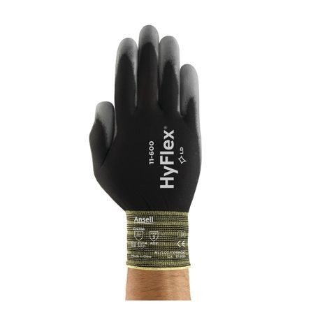 Ansell® HyFlex® 11-600B/10 Light-Duty Multi-Purpose Coated Gloves