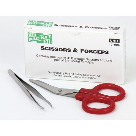 First Aid Only® 17-005 Scissors and Forceps Combination Pack