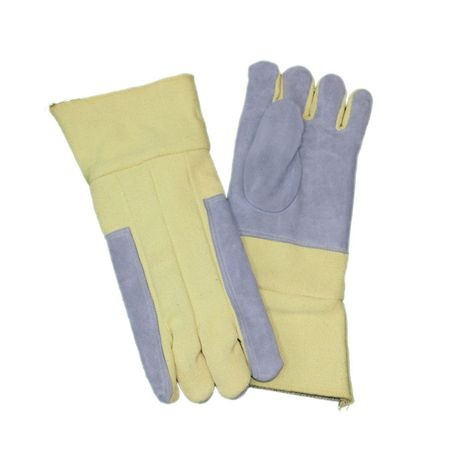 "Chicago Protective Apparel FA-238KV 18"" Para-Aramid Blend and Leather Combo High Heat Gloves"