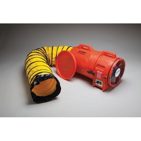 "Allegro® 9543-15 12"" Plastic Axial Blower with Canister and 15' Ducting"