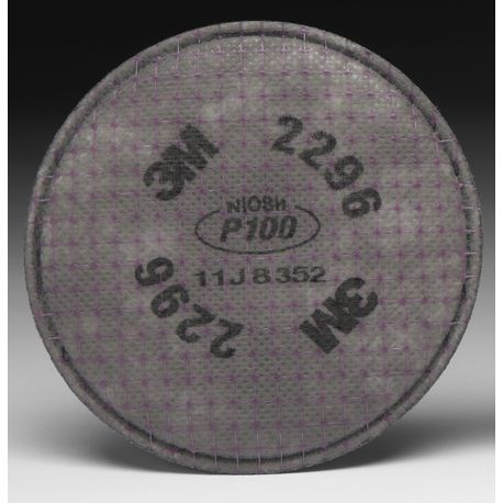 3M™ 2296 P100 Particulate Filter with Nuisance Level Acid Gas Relief