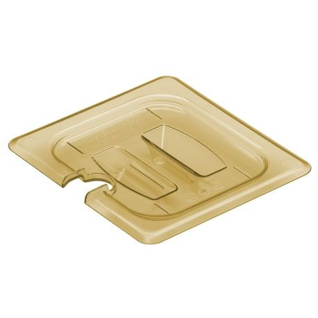 Cambro® Amber H-Pan 1/6 Cover Notched Handle (60HPCHN150)