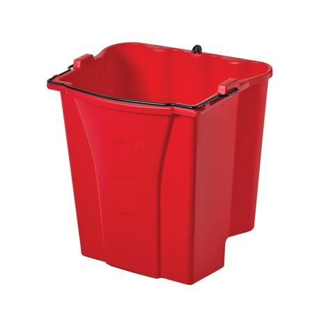 Rubbermaid Commercial 174 Red Dirty Water Bucket 18 Qt