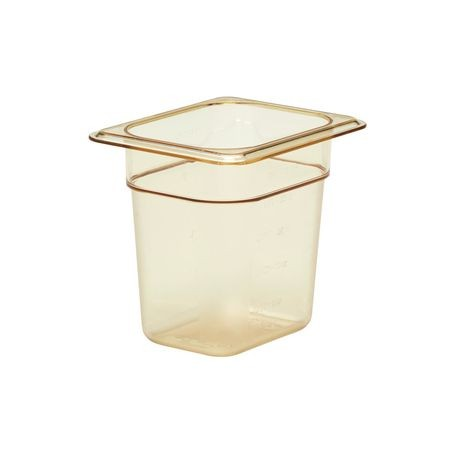 "Cambro® Amber H-Pan 1/8 Size 6"" Deep Food Pan (86HP150)"