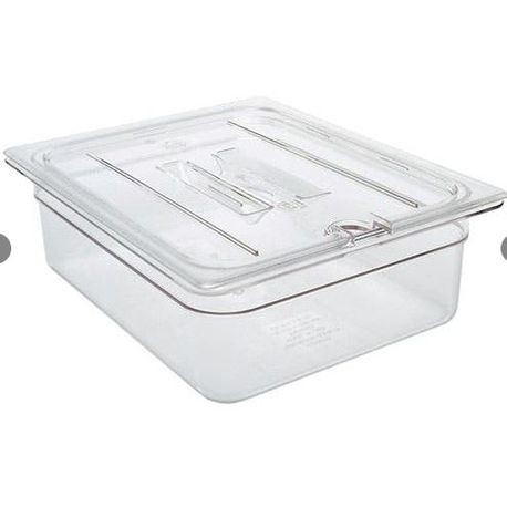 "Cambro® Camwear™ Clear 1/2 Size 6"" Deep Food Pan (26CW135)"