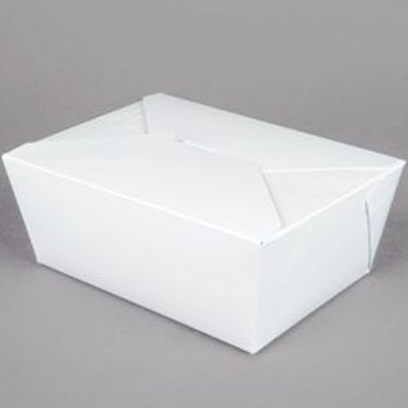 "#1 White 5"" x 4"" x 2.5"" Folded Take Out Box (MPK1W)"