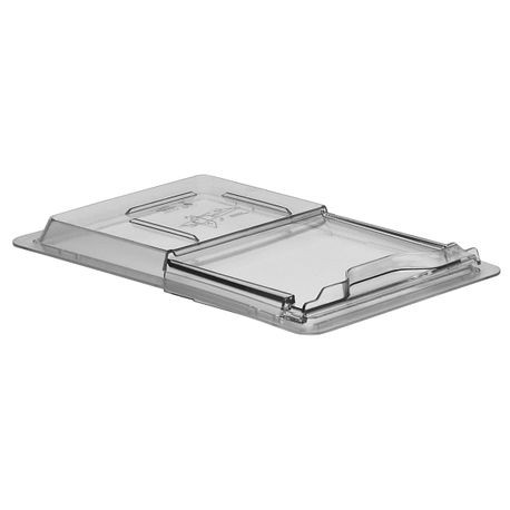 "Cambro® Camwear™ Clear 12"" x 18"" Sliding Lid Food Box Cover (1218SCCW135)"
