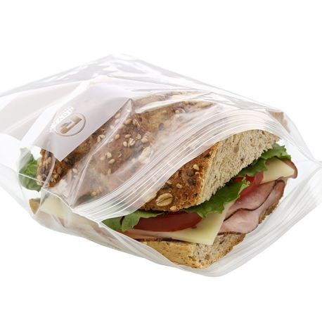 "AmerCareRoyal® Double Zipper 6.5"" x 6"" Sandwich Bag"