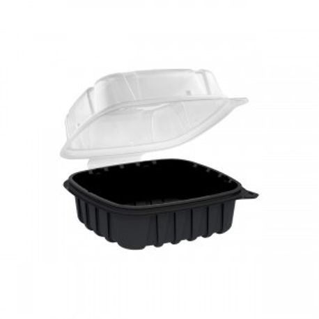 "Anchor Packaging® Culinary Basics 6.36"" x 6.18"" x 2.96"" Hinged Container (CB6611) (466611)"