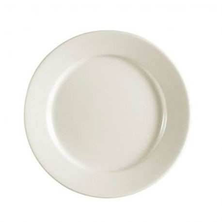 "CAC® China Plate 12"" x 1.25"" (REC-21)"