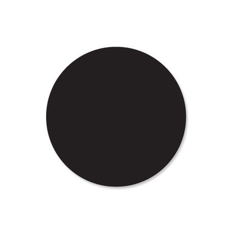 "Black 1"" Circle Label (112332)"
