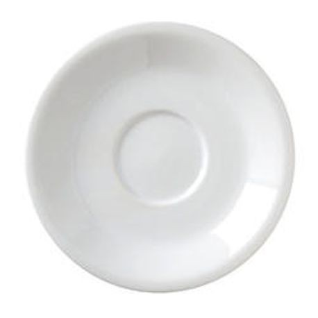 Argyle Collection White Cappuccino Saucers