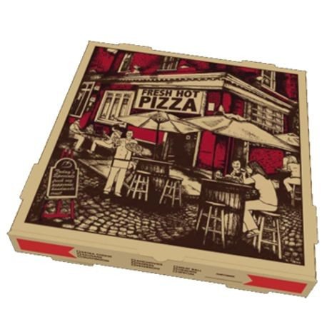 18B Corrugated Pizza Box Fresh Hot Print (5135)