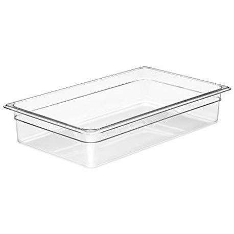 "Cambro® Camwear™ Clear Full Size 20 7/8"" x 12 3/4"" Poly Food Pan (14CW135)"