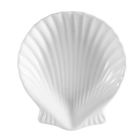 CAC® Bright White Shell Shaped Dish (SD-9)