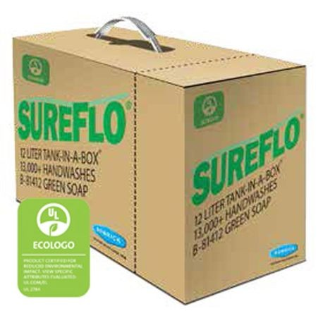 Bobrick® Sureflo® Tank-In-A-Box® 12 LITER Eco Green Hand Soap (B81412)