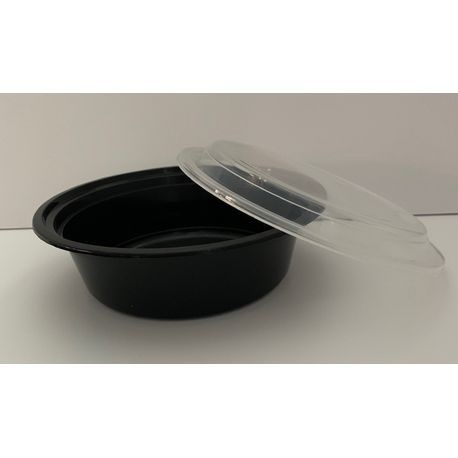 Black 32 oz Round Container Combo Case Pack (HDRO32)