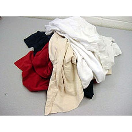Assorted Color T-Shirt Rags 25 Lbs