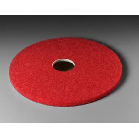 "3M® 19"" Red Buffer Floor Pad (5100)"