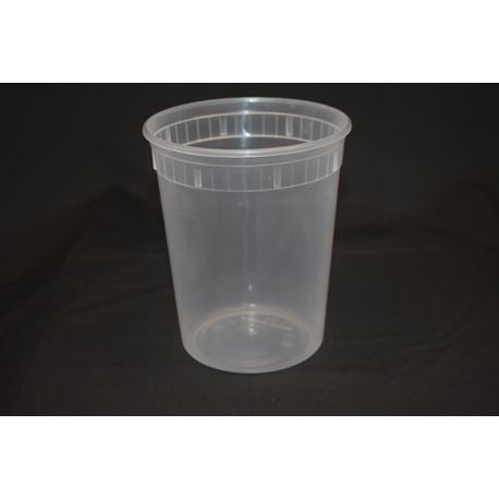 32 oz Injection Molded Translucent Deli & Soup Container (232WHC)