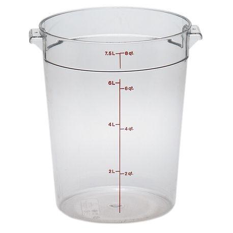Cambro® 8 QT Clear Round Container (RFSCW8135)