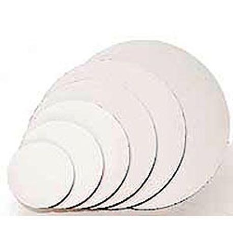 "12"" White Corrugated Cardboard Cake Circle"