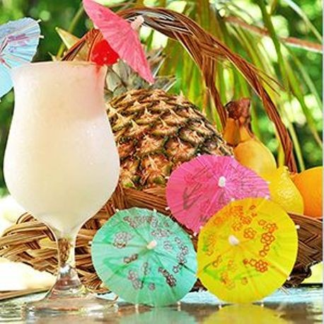 "4"" Assorted Color Cocktail Parasols"