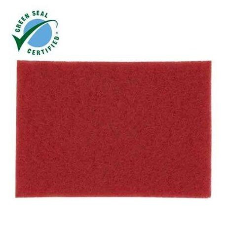 "3M® Red 14"" x 20"" Buffer Floor Pad (7000126868)"