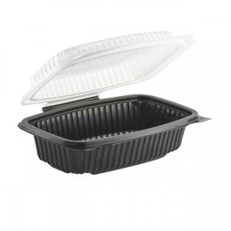 "Anchor Packaging® Culinary Lites® 9"" x 6"" Hinged 34 oz Capacity Container (CL6911)"