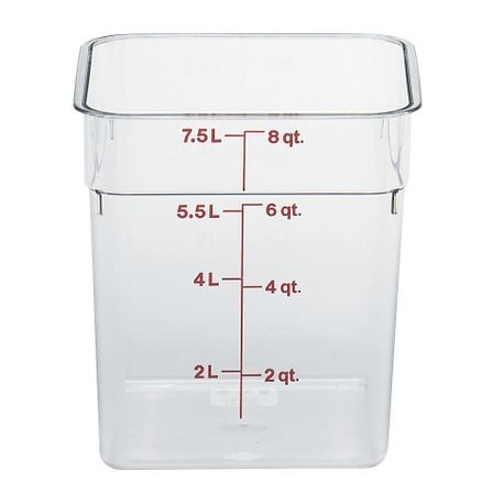 Cambro® Camsquares™ 8 QT Food Storage Container (8SFSCW135)