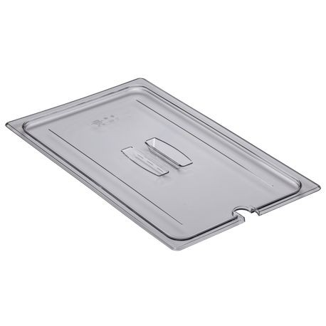 Cambro® Camwear™ Clear Full Size Food Pan Handled Notched Lid (10CWCHN135)