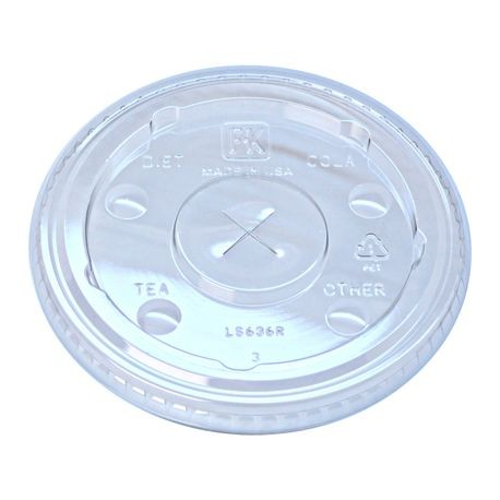 Fabri-kal® Straw Slot Lid with Flavor Buttons (LS636FX)