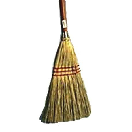 "100% Corn Fiber 9"" Wide Lobby Broom with 30"" Handle"